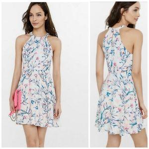 EXPRESS Garfen Floral Halter Dress